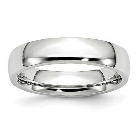 Cobalt 5mm Wedding Ring Band Size 9.00 Classic Domed For