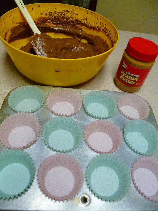 03 March 29 - Chocolate Cupcakes with Peanut Butter Icing (2)