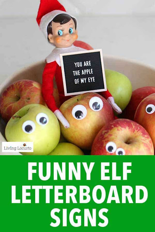 Elf Letter Board Signs