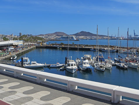 The Port of Las Palmas (Gran Canaria Island)