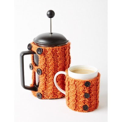 Coffee Press And Mug Cozies