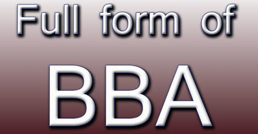 BBA Full Form | Windows