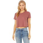 Bella + Canvas 8882 Women's Flowy Cropped Tee - Mauve