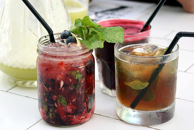 Mint Berry Fix, Beetroot Beat, Pei Pa Herbal Tonic