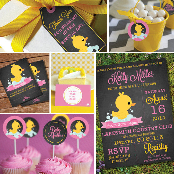 Rubber Duck Baby Shower Decorations For A Girl Sunshine Parties