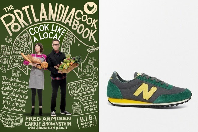 "<strong>New Balance</strong> 410 Suede/Wax Canvas Sneakers in Green/Yellow, $114, at <a href=""http://bit.ly/1w4gUiT"">asos.com</a>"
