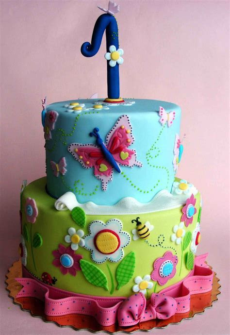 Flowers Butterfly 2 Tier Cake   Fondant Cakes in Lahore