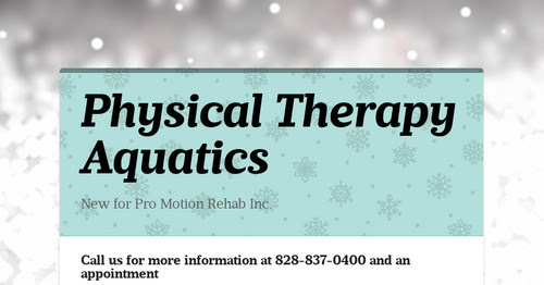 Physical Therapy Aquatics