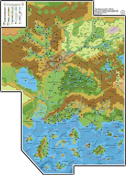 TM1 The Western Countries, 8 miles per hex | Atlas of Mystara