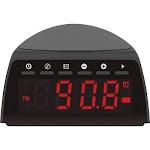 Aluratek - Qi Wireless Charging FM Alarm Clock Radio with Bluetooth Streaming