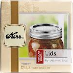 Kerr Canning Jar Lids, Regular Mouth - 12 count
