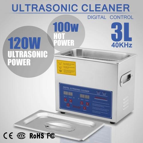 3L Máquina Limpiadora Ultrasónica de Acero Inoxidable