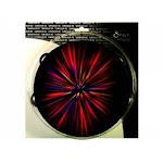 Swanson Christian Supply 77192 8 in Tambourine Starburst Red 6 Pairs of Cymbals Instrument