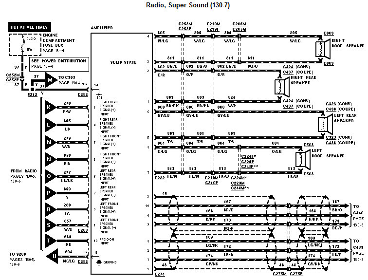 Wiring Diagram  26 2001 Ford Mustang Stereo Wiring Diagram