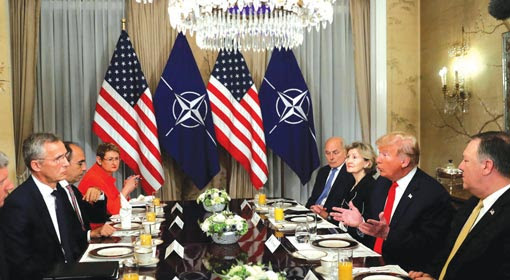 Trump reprimands Germany and other European countries for not contributing to NATO's defence spending