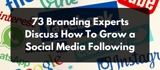 73 Branding Experts Discuss How To Grow a Social Media Following