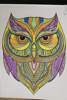 owl   kaleidoscope coloring animals