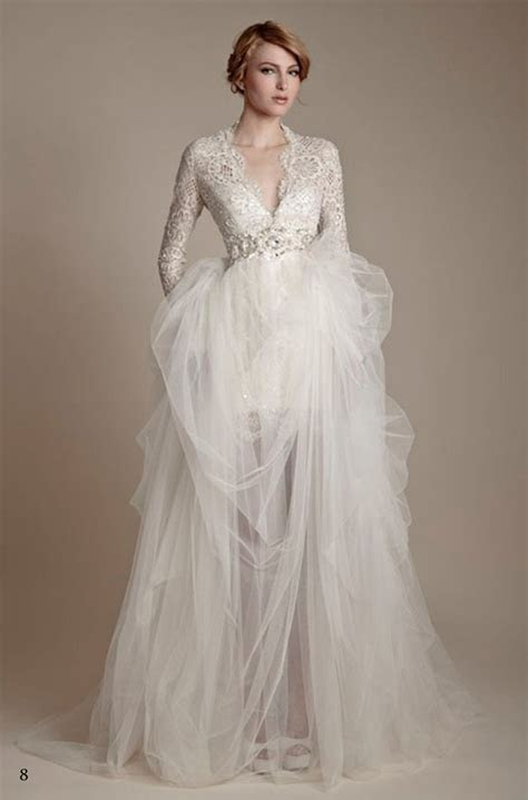 Long Sleeve Wedding Dresses   Dressed Up Girl