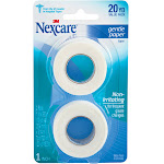 Nexcare Gentle Paper First Aid Tape, White, 20 yd - 2 pack