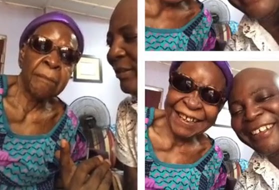 harly Boy Shares Photos With His 98-Year-Old Mother, Gives Her A Peck