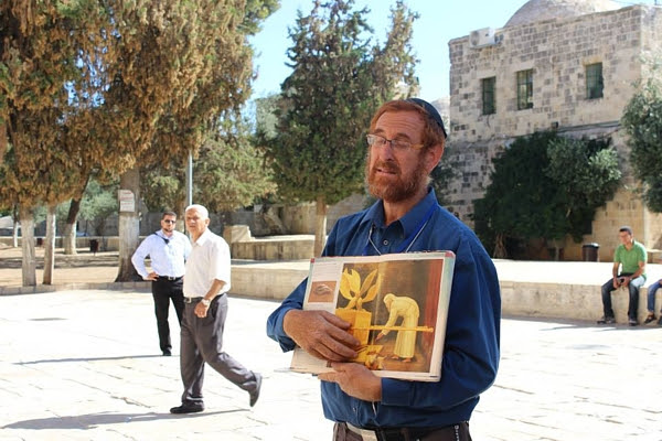 Yehudah Glick on the Temple Mount.