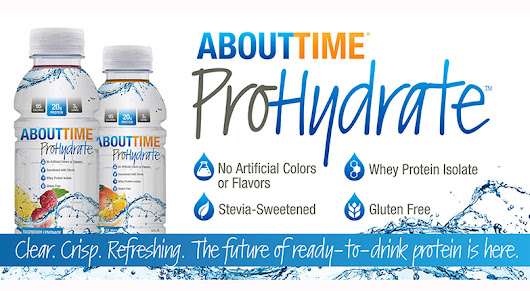 Win About Time's ProHydrate: 20g of Ready to Drink Whey Protein Isolate Per Bottle!