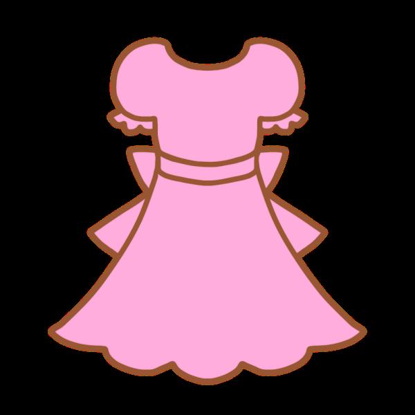 ピンクのワンピースのイラスト かわいいフリー素材が無料のイラストレイン