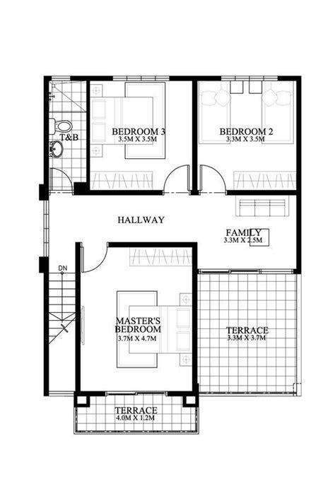 modern house plan  dexter model    bedroom  story
