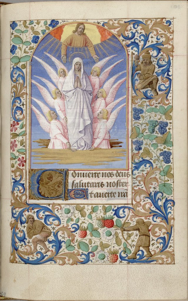 manuscript scene from devotional to the Virgin Mary