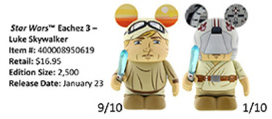 Luke Skywalker Eachez Vinylmations to be Released Tomorrow
