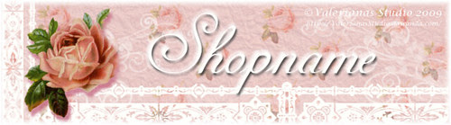 Rose and Lace Shop Banner