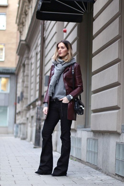 Le Fashion Blog 9 Ways To Wear Flared Jeans Wide Leg Denim Scarf Burgundy Leather Jacket Via Moderosa photo 7-Le-Fashion-Blog-9-Ways-To-Wear-Flared-Jeans-Wide-Leg-Denim-Scarf-Burgundy-Leather-Jacket-Via-Moderosa.jpg