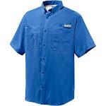 Columbia Men's Tamiami II SS Shirt - 4X - Vivid Blue