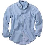 River's End Mens Denim & Twill Shirt Casual Tops Blue