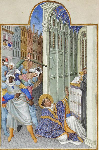 File:Folio 19v - The Martyrdom of Saint Mark.jpg