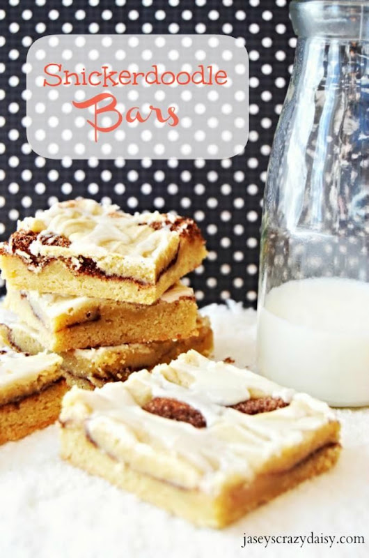 Jasey's Crazy Daisy: Snickerdoodle Bars {New & Improved}