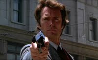 Screenshot from the DVD version of the 1971 film Dirty Harry