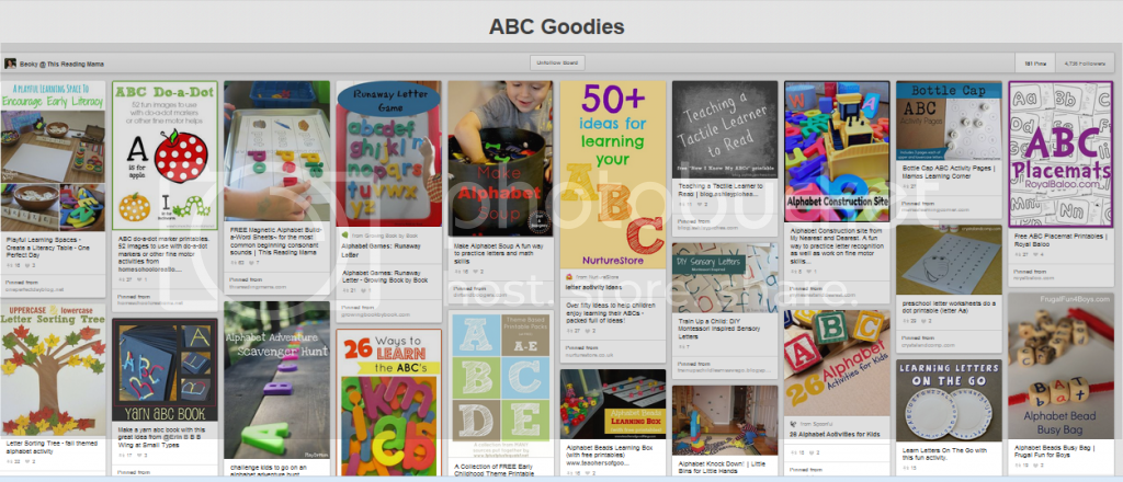 http://www.pinterest.com/thisreadingmama/abc-goodies/