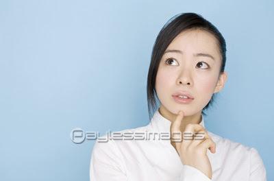 顎に手の写真イラスト素材 写真素材ストックフォトの定額制ペイレス