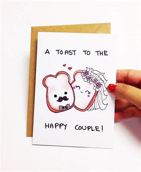 A toast to the happy couple. ? Design is hand drawn by