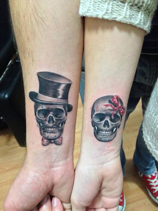 Mister And Missis Skeleton Couple Tattoo Best Tattoo Ideas Gallery