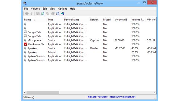 يسمح البرنامج بضبط أصوات التنبيهات مع إمكانية تحديد درجة علو الصوت في كل تنبيه على حدى
