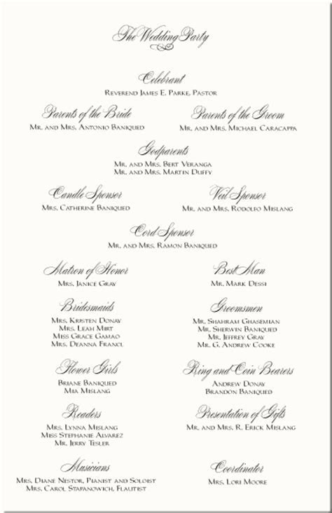 Celtic Wedding Program Examples Celtic Wedding Ceremony