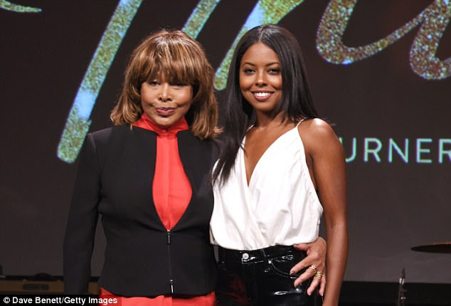 A star is born: First beaming widely for cameras, the singer later posed with actress Adrienne Warren, who is set to play the pop star onstage