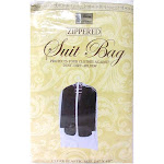 """AllTopBargains 2x Suit Garment Storage Bags 40"""" Protective Jacket Cover Top Storage Dust Travel"""