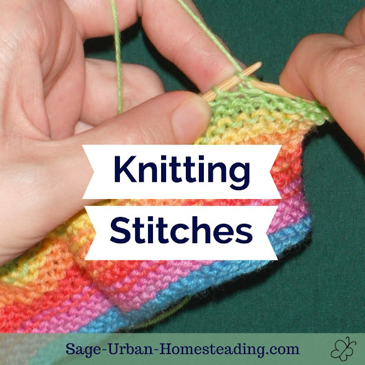 Knitting Stitches with Rhymes