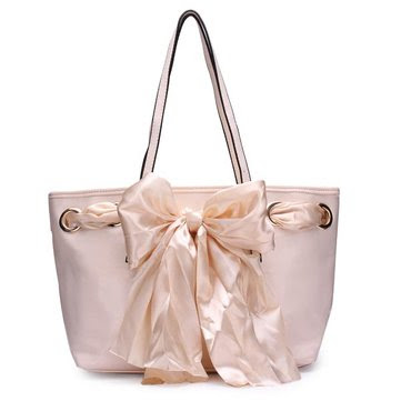 Women Leather Silk Scarf Large Handbag Shoulder Bag - US$18.21