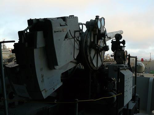 Anti-aircraft artillery position on the U.S.S. Hornet