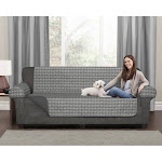 Maytex Buffalo Check Reversible Sofa Furniture Cover, Grey