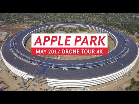 New Apple Park Drone Video Shows Off Last Minute Construction as Opening Draws Near